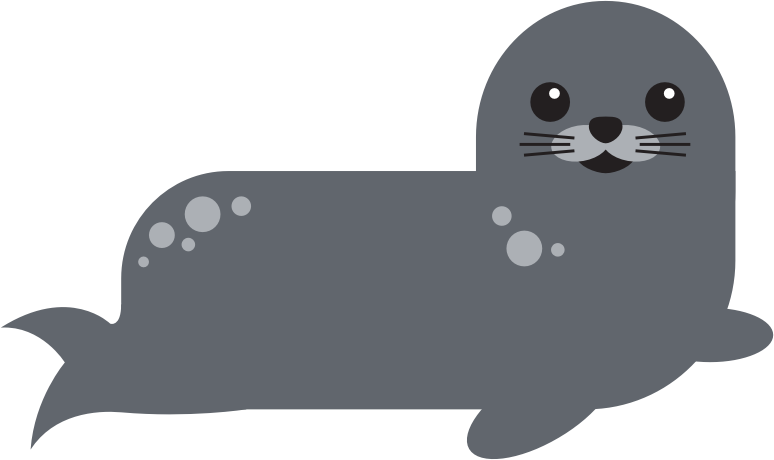 Seal clipart real animal. Harbor medium image png