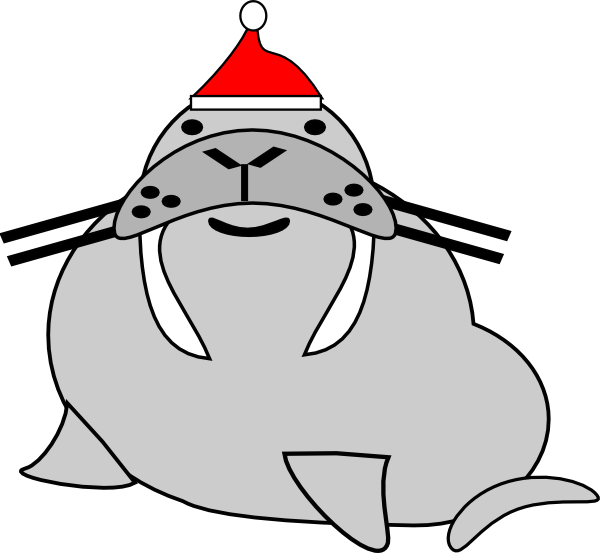 Wearing santa clip art. Seal clipart sea dog