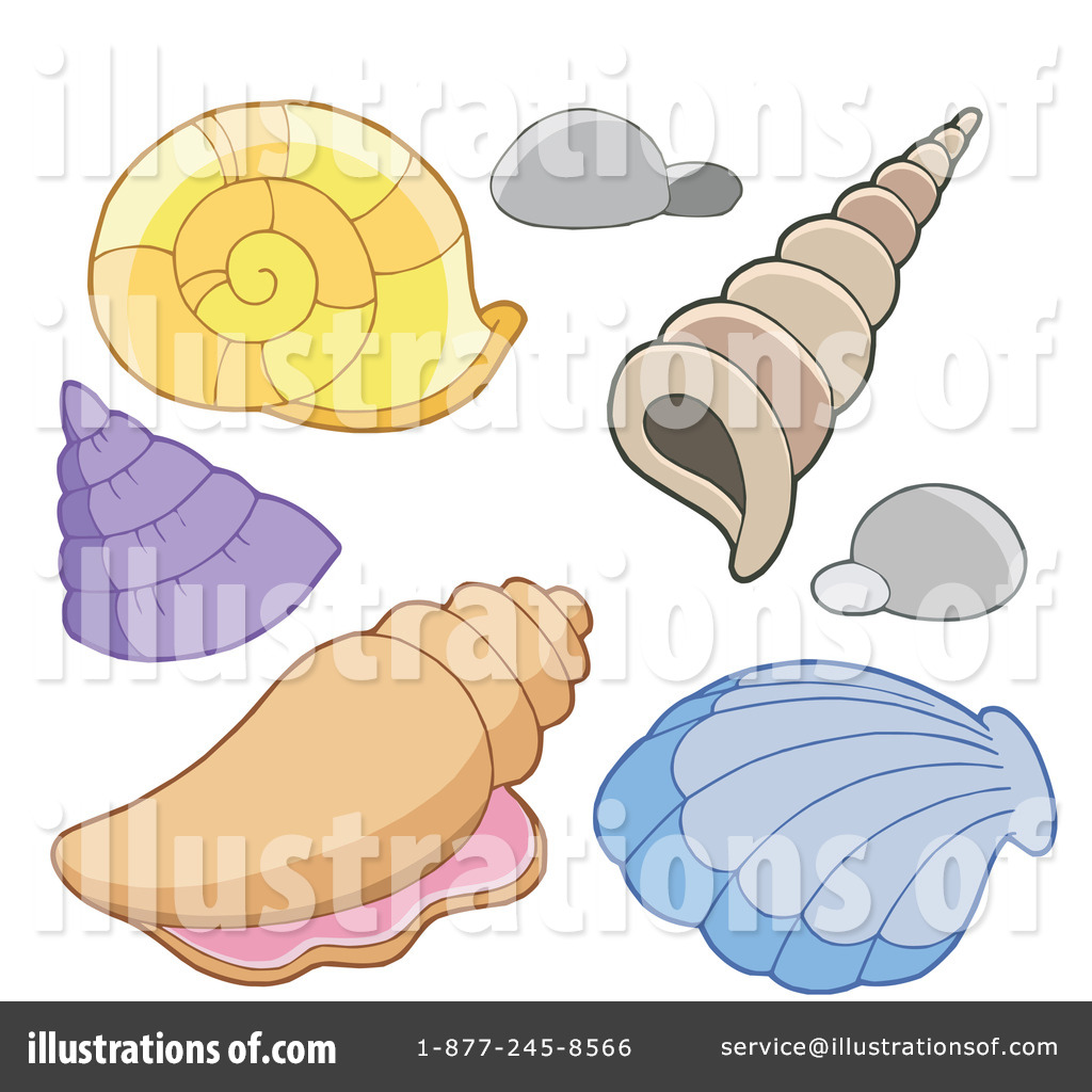 Illustration by visekart royaltyfree. Seashells clipart