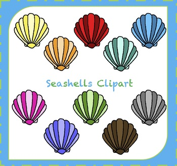 Ocean shells by made. Seashells clipart