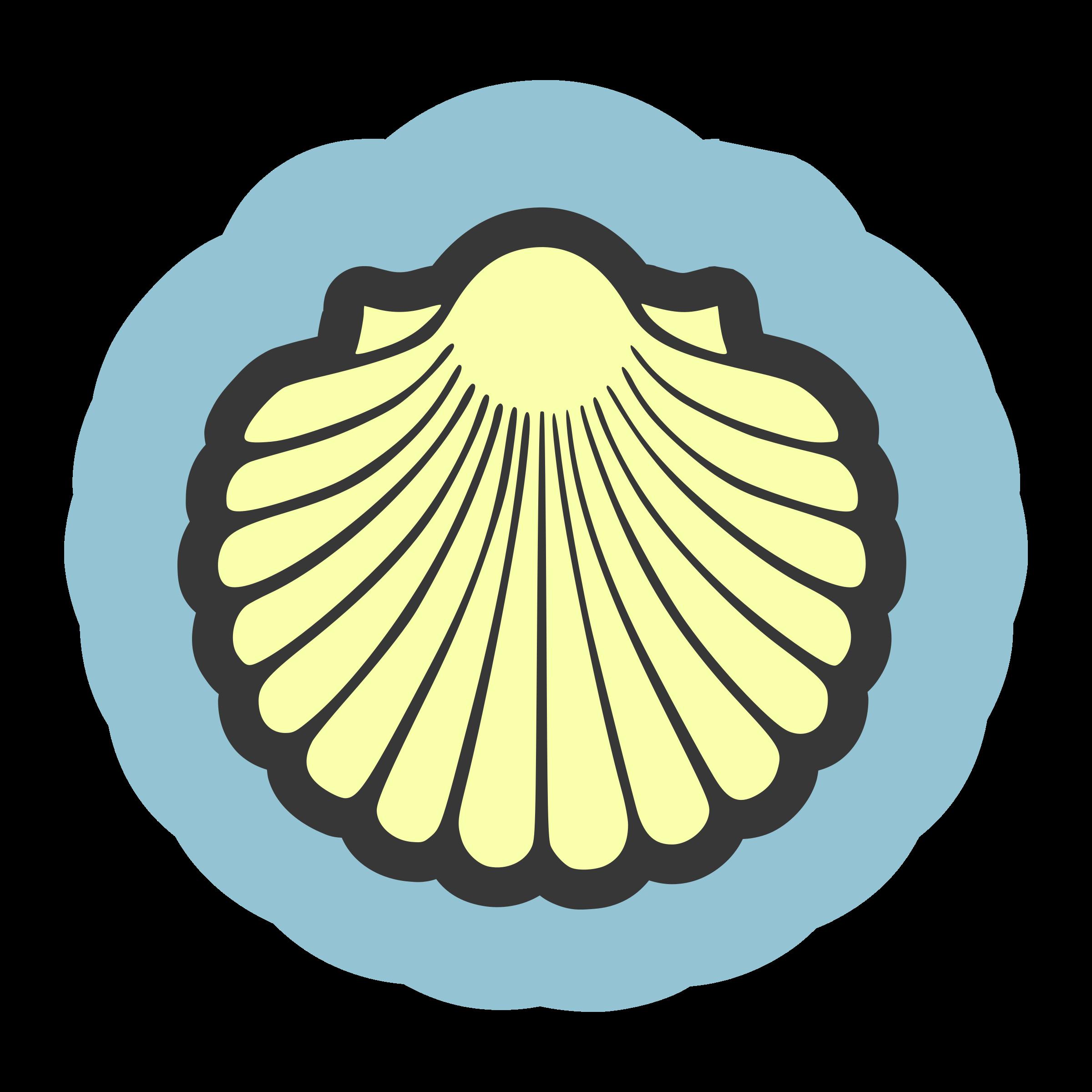 Shell clipart sea rock. Seashell scallop frames illustrations