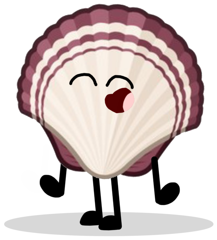 Shell clipart one color. An adorable kid by