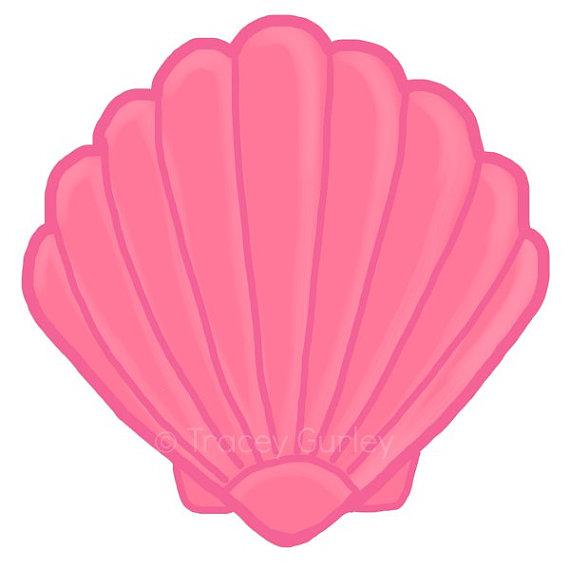 sea shells clip. Shell clipart pastel