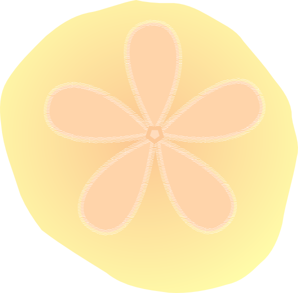 Clip art at clker. Shell clipart sand dollar