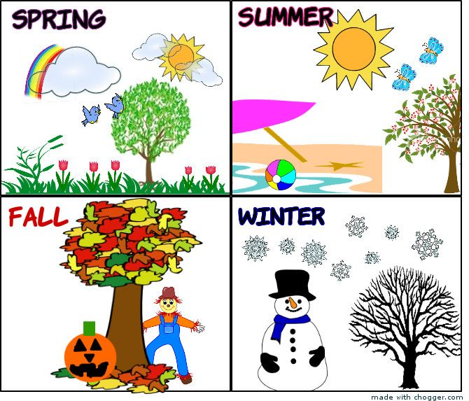 Calendar clipart seasons.  best images on