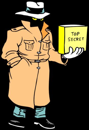 Agent . Secret clipart
