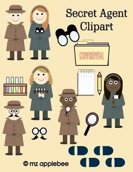 Secret clipart. Clip art agent pinterest