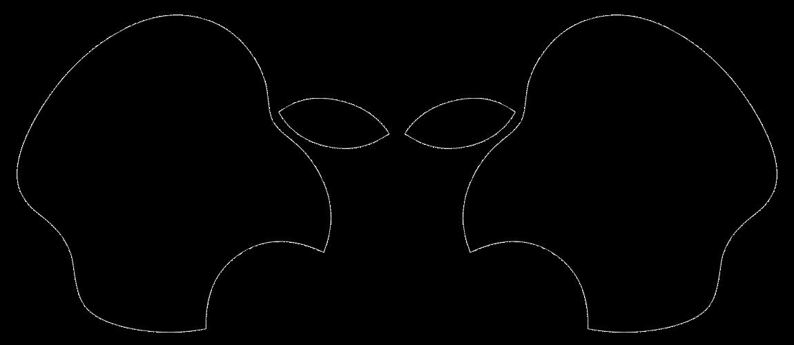 Alien made using apple. Secret clipart hidden
