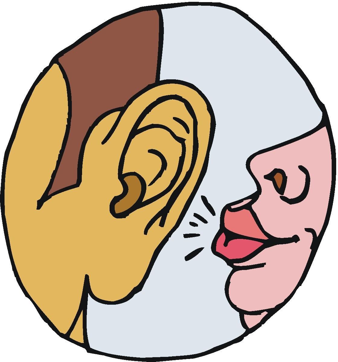 Whisper clipart in ear. Free download best on