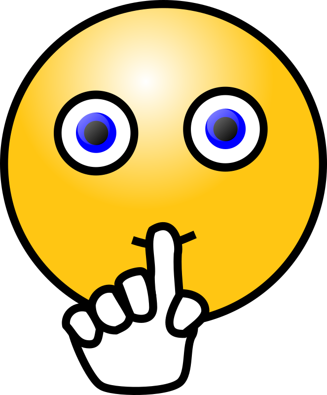 Emoticons silence face medium. Working clipart quietly