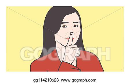 Vector art please with. Shhh clipart quiet sound