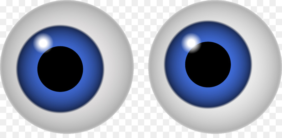 Googly eyes blue clip. See clipart