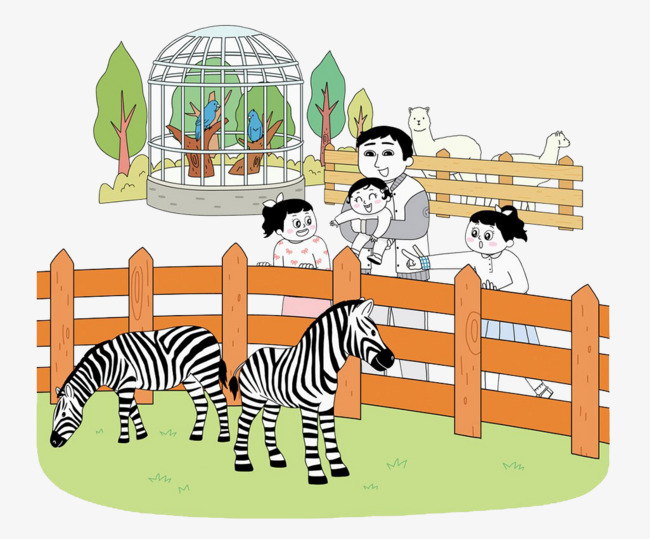 See clipart. Family to the zebra