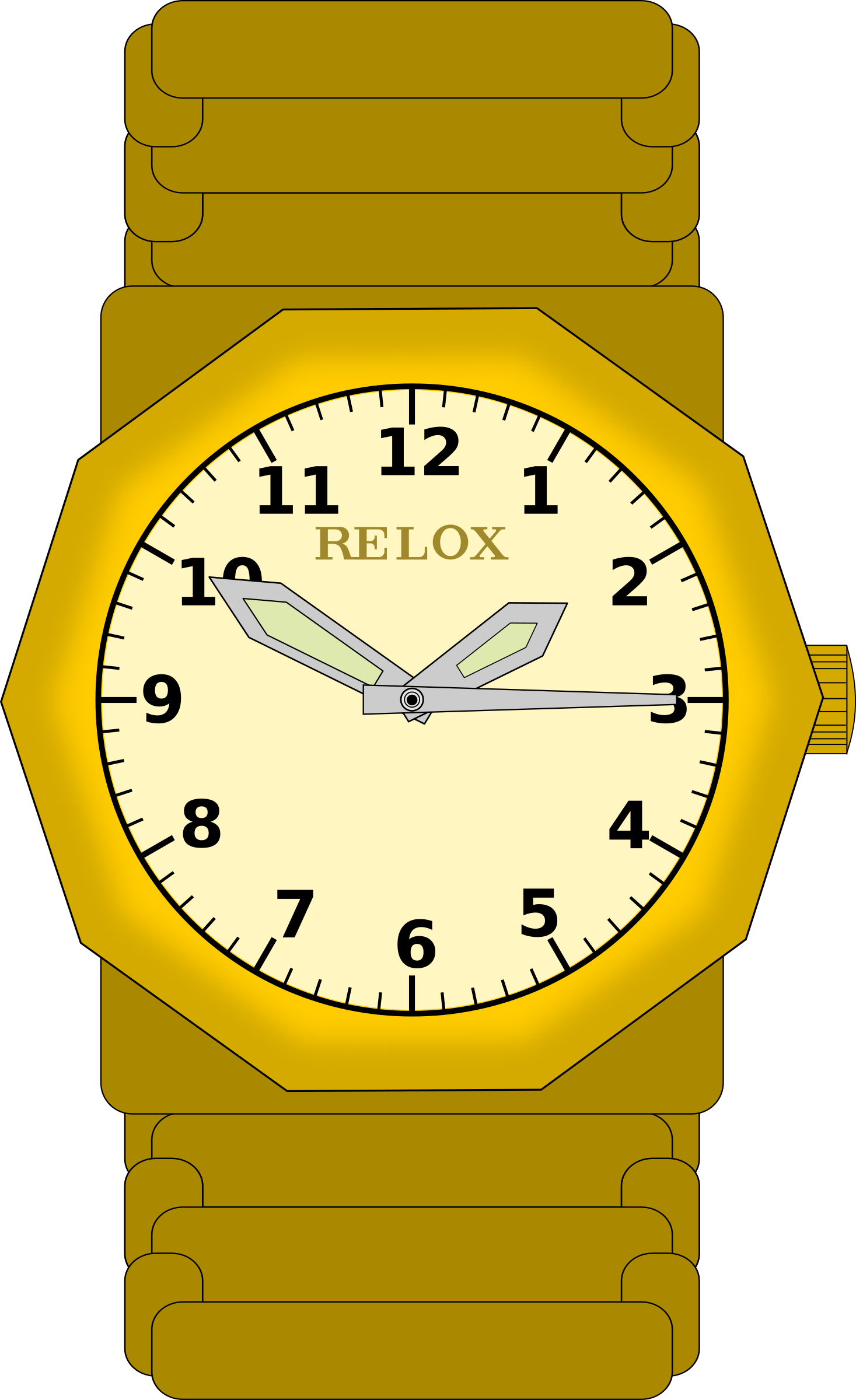 Reloj de pulsera in. See clipart analog watch