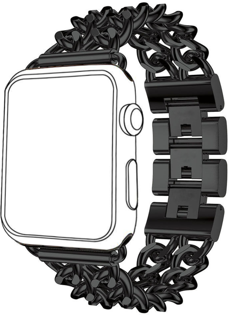 See clipart apple watch. Metal replacement band with