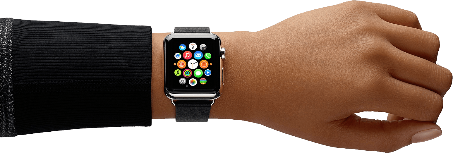 See clipart apple watch. Hand transparent png stickpng