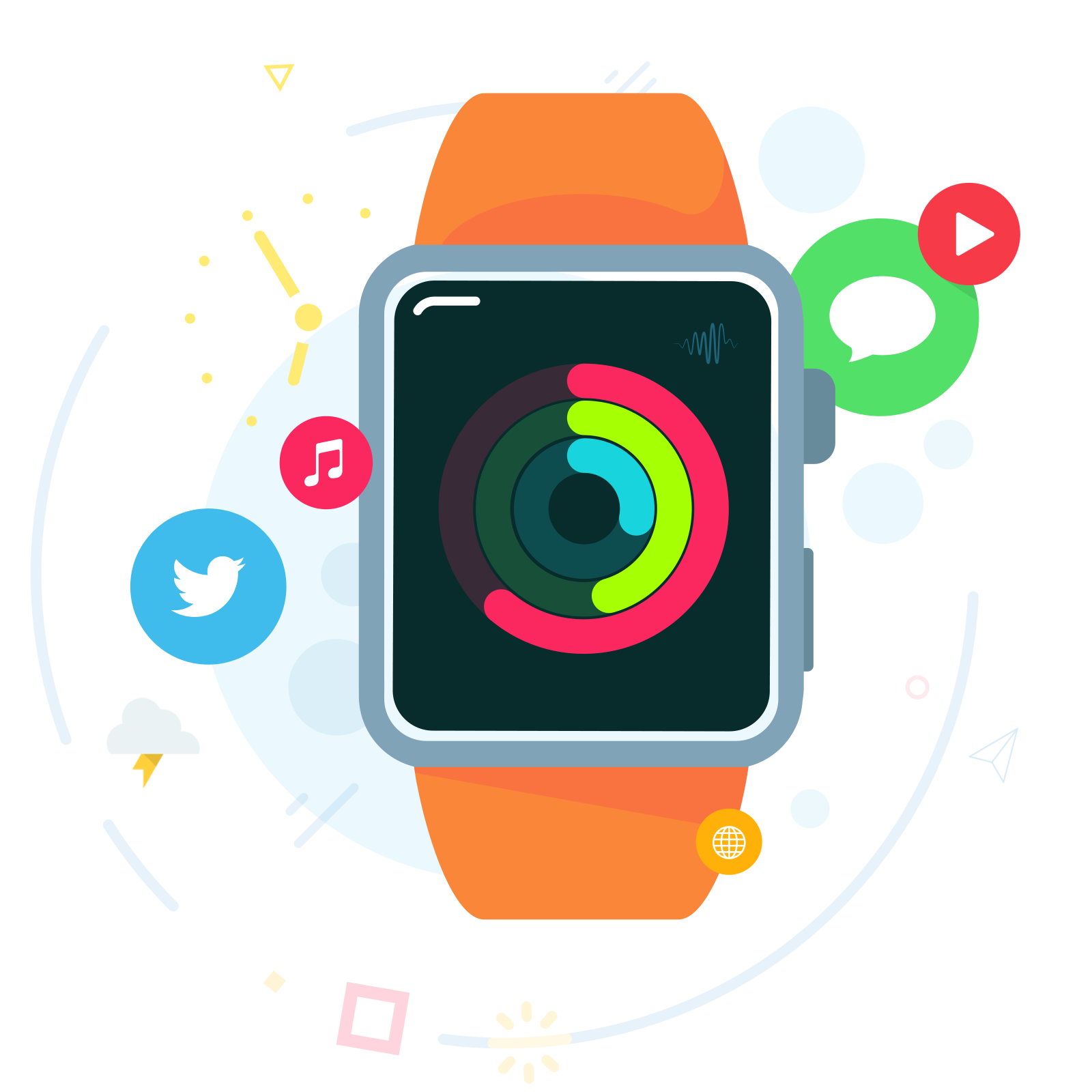 See clipart apple watch. Android wear imore