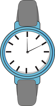 See clipart blue watch. Cliparts zone