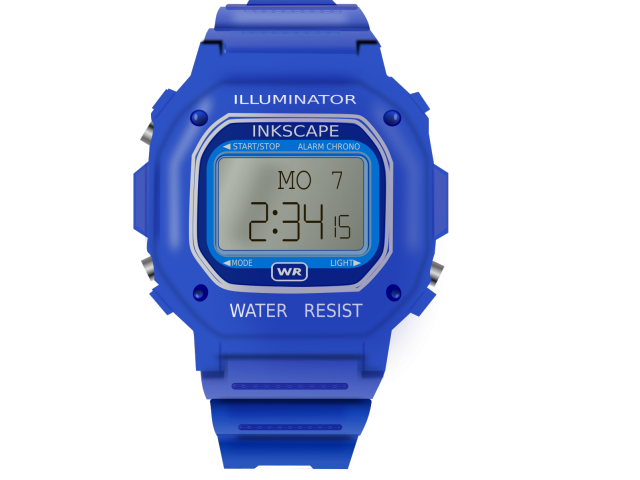 Free download clip art. See clipart blue watch