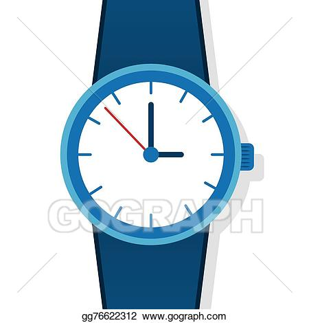 Clip art vector stock. See clipart blue watch