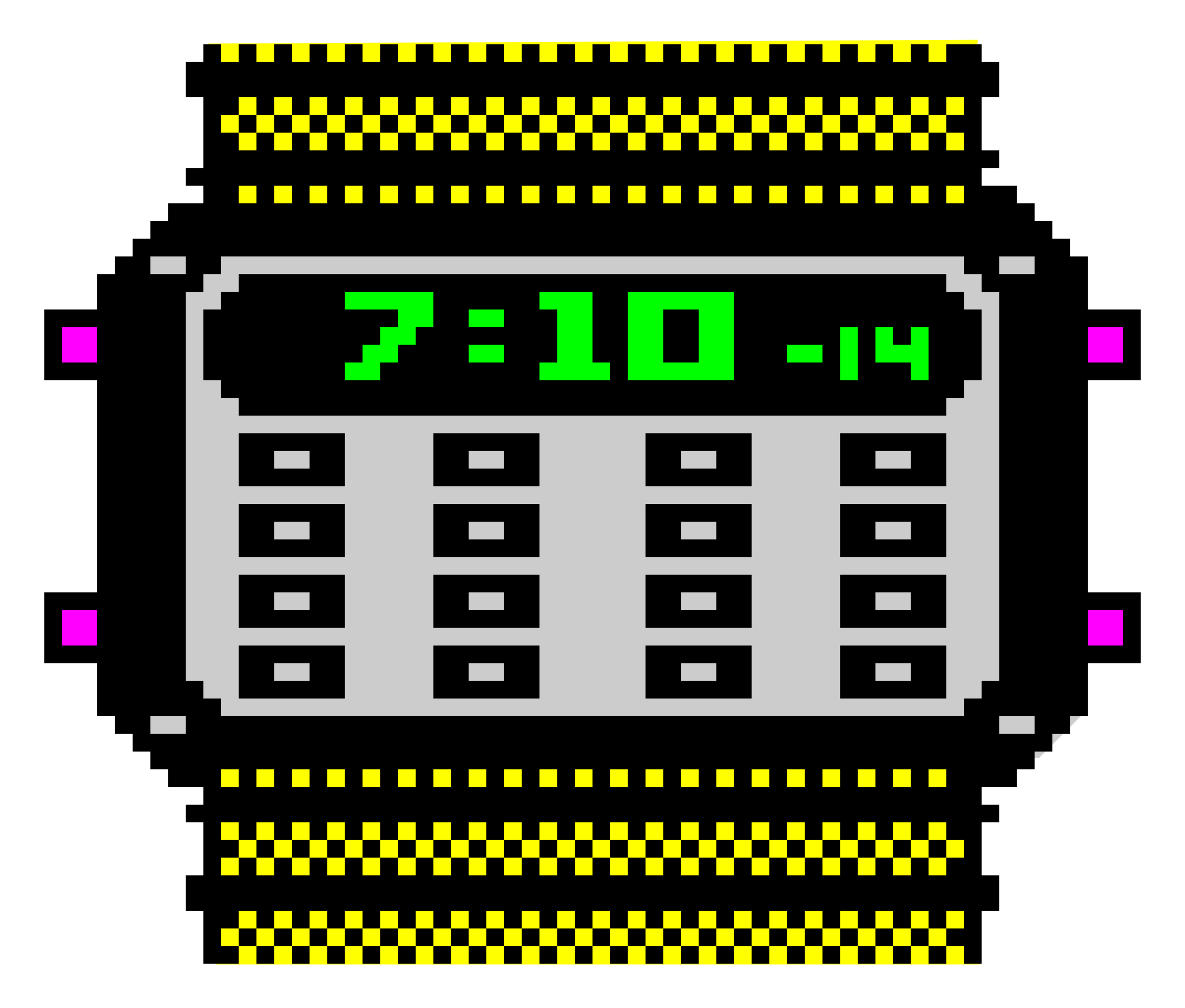 See clipart digital watch. Colour big image png