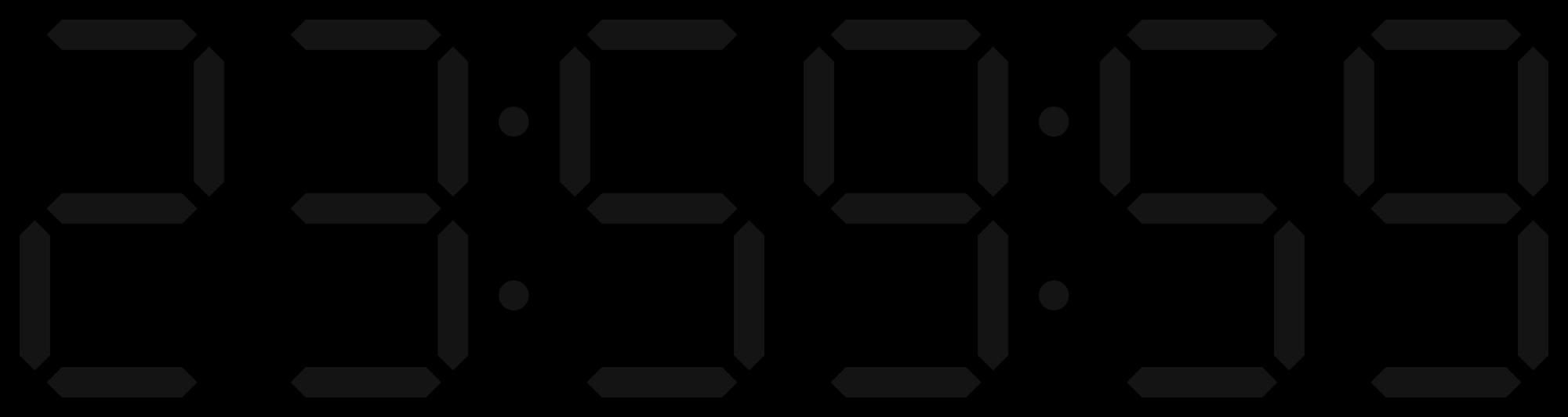 See clipart digital watch. File clock display svg