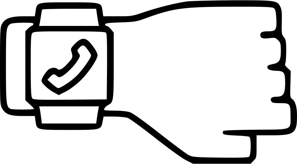 See clipart smart watch. Smartwatch screen interface call
