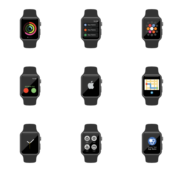 Smartwatch icons free vector. See clipart smart watch
