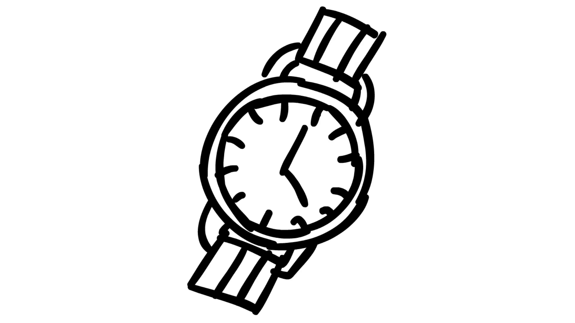 Rist drawing illustration animation. See clipart watch line