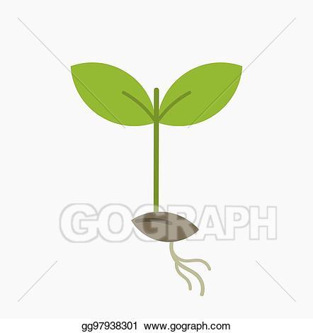 Seedling clipart little plant. Vector illustration