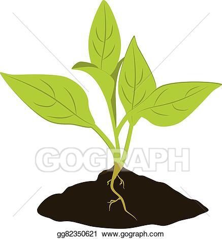 Eps vector icon stock. Seedling clipart little plant