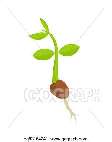Seedling clipart little plant. Eps illustration germination vector