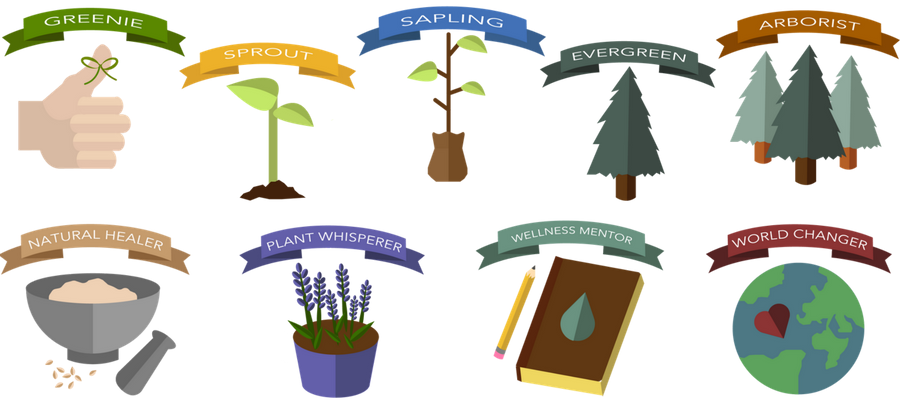 Seedling clipart plant face. Gamification info health healing