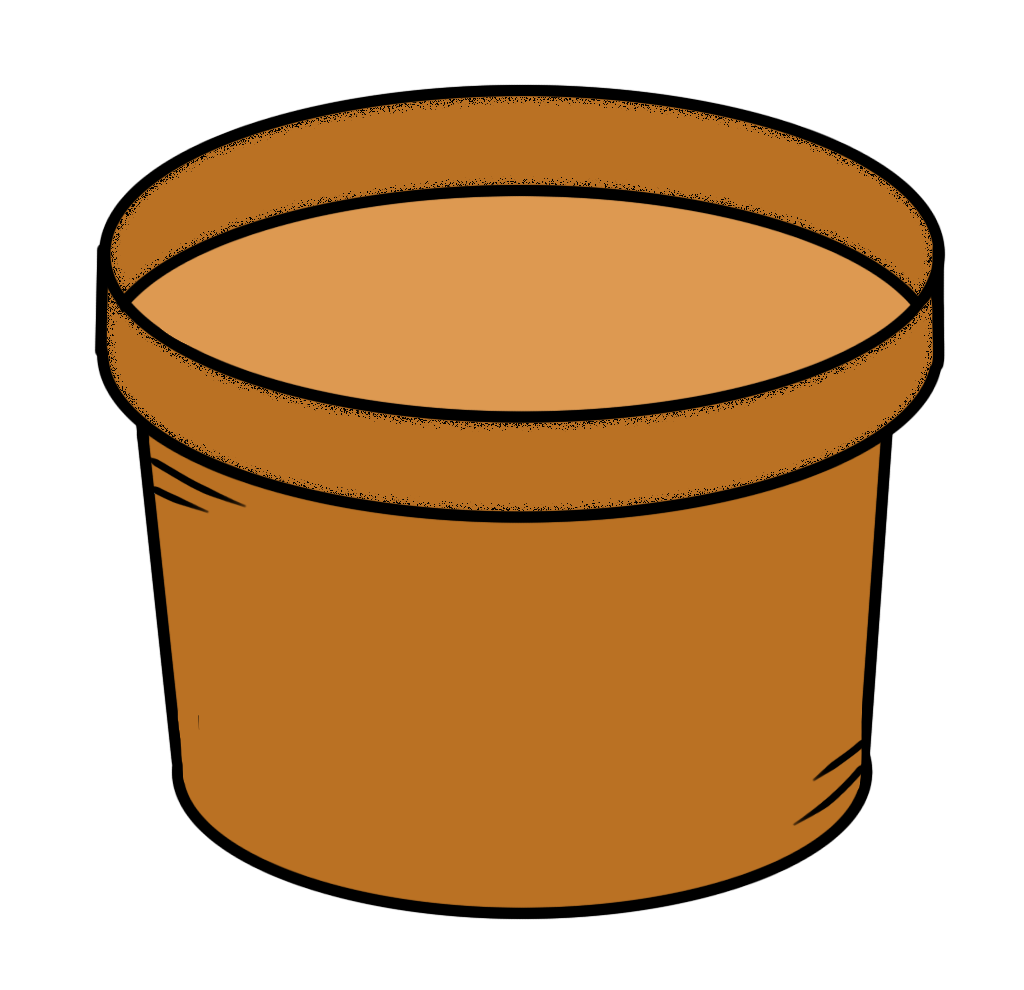 Seedling clipart potted plant. Flower pot black and