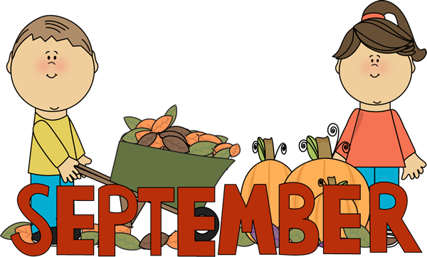 September clipart. Clip art images month