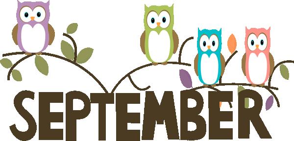 Free month clip art. September clipart