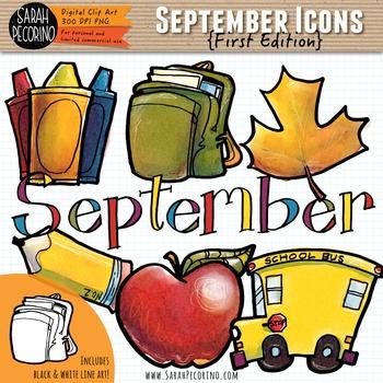 Clip art edition . September clipart first