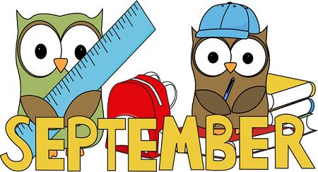 Hello owl teaching days. September clipart homework