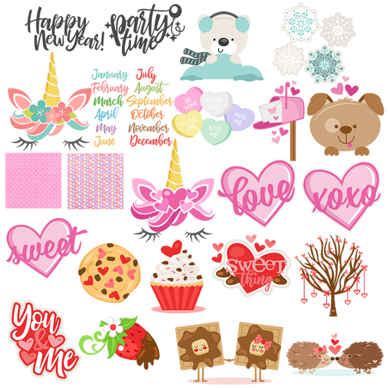 September clipart january month. Miss kate cuttables freebies
