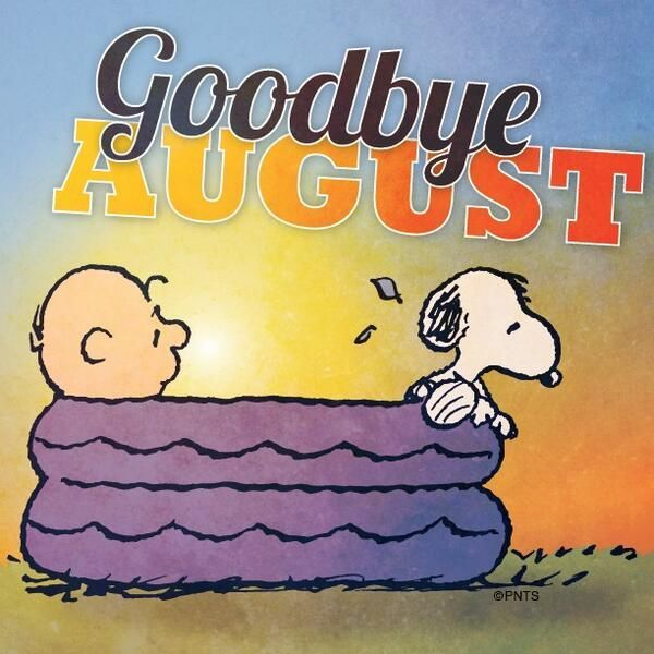 September clipart peanuts. Goodbye august ugh now