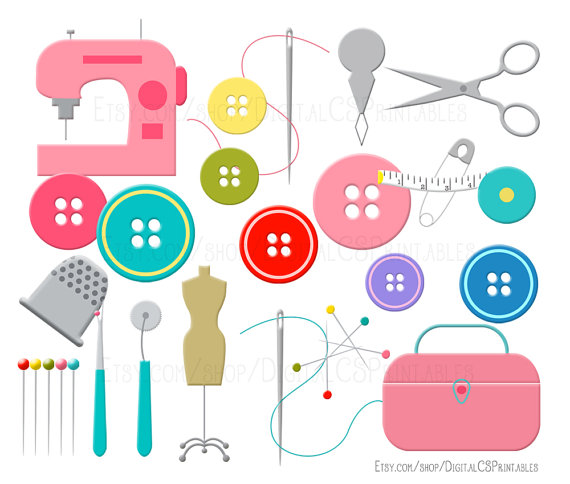 Clip art button cute. Sewing clipart