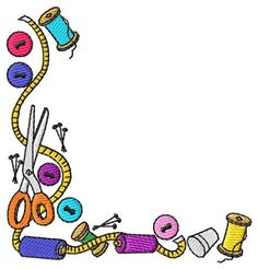 Sewing clipart craft. Thread clip art crafting