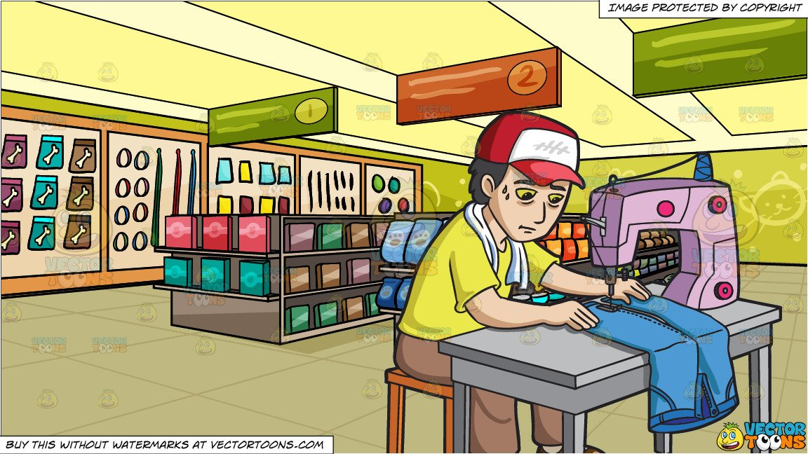A factory pair of. Sewing clipart manufacturing worker
