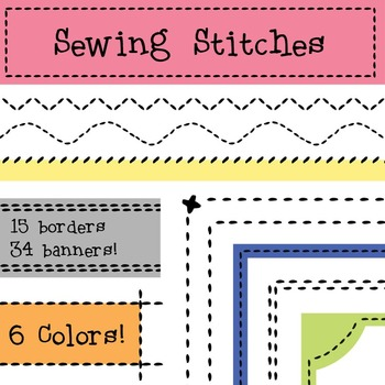 Stitch clipart quilting border. Sewing stitches borders and