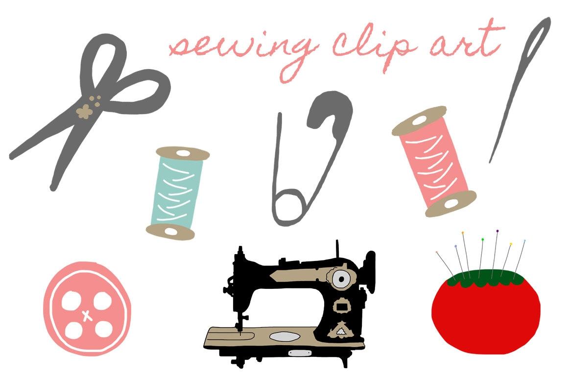 Cute machine clip art. Sewing clipart pretty