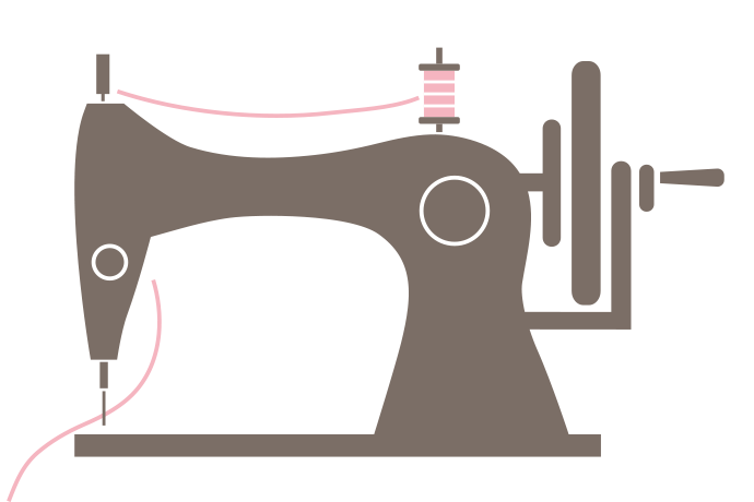 Butterquins bespoke hand made. Sewing clipart pretty