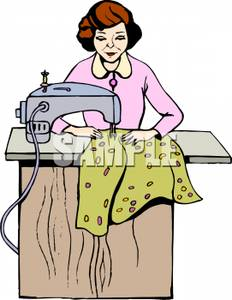 A woman clothing clip. Sewing clipart sewing clothes