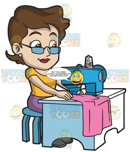 A fashion designer her. Sewing clipart sewing clothes