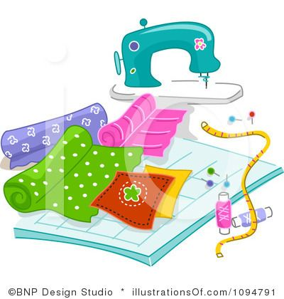 Clip art materials pic. Sewing clipart sewing material