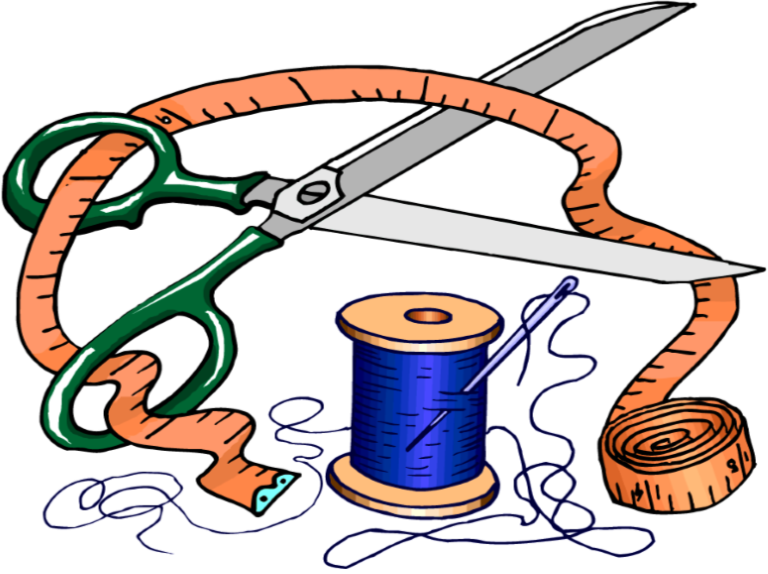 Sewing clipart sewing material.  h newsletters workshoppng